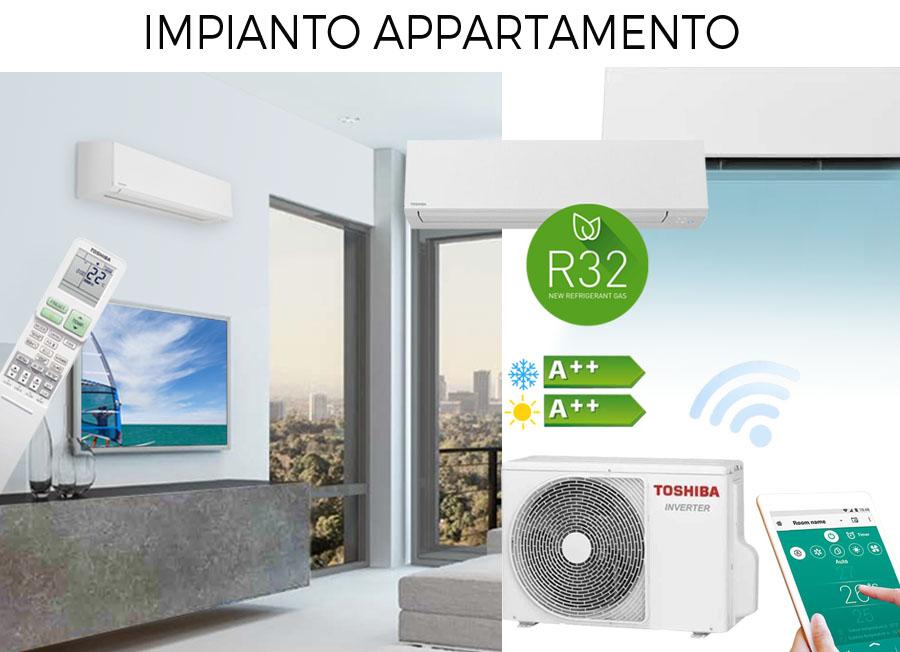 impianto climatizzazione residenziale