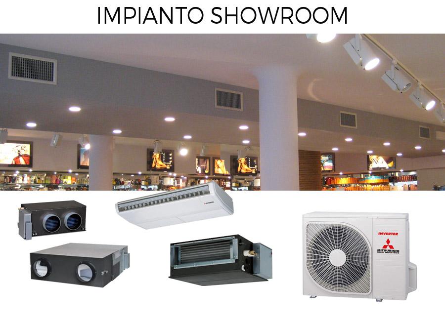 impianto climatizzazione commerciale showroom