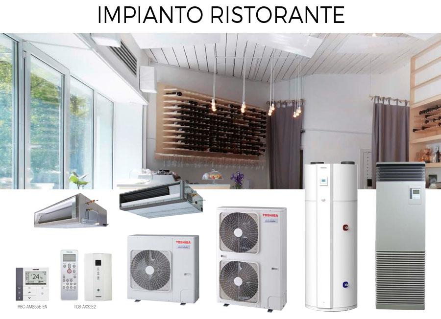 impianto climatizzazione commerciale ristorante