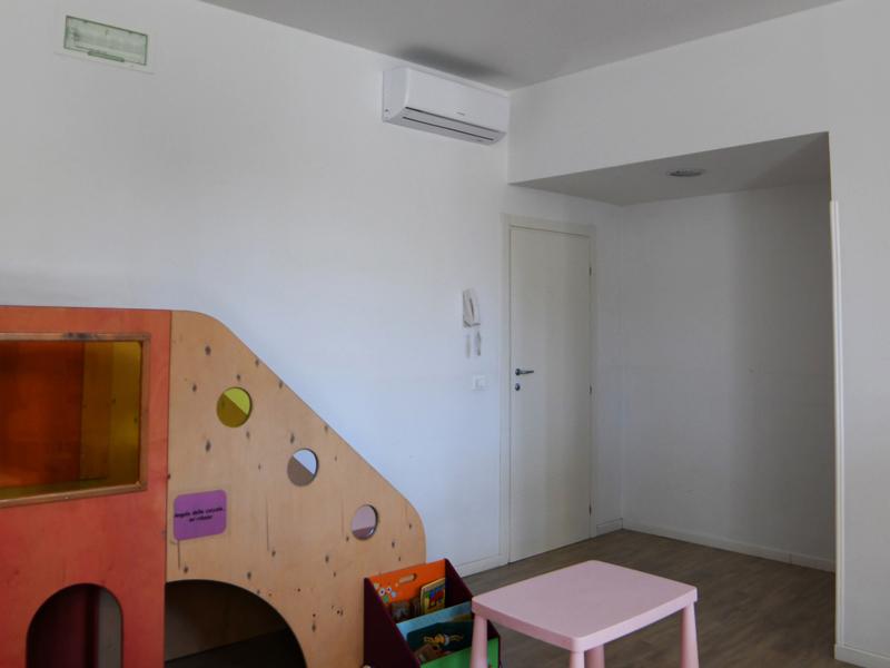 Impianto di raffrescamento e riscaldamento asilo Verona