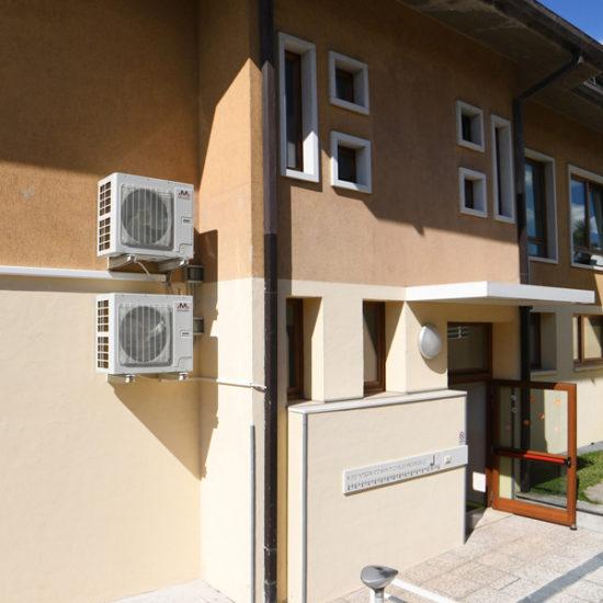 impianto climatizzazione asilo, unità esterne